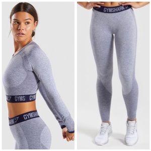 Gymshark Flex Long Sleeve Crop Top & Leggings Set